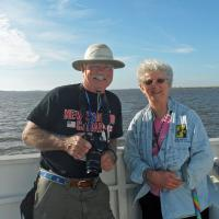 Bob and Marguerite enjoying another one of our beautiful days on the way to Sapelo Island.