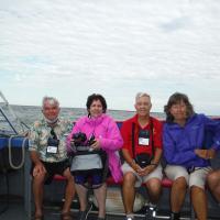 Randy, Kelly, Bill and Carol on Lake Huron Boat Ride
