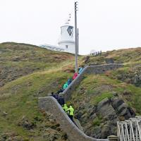 "There is no such thing as an ""easy"" access to a lighthouse.  The path to Strumble Lighthouse was up, up, up!"