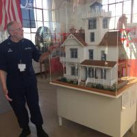 Norm Bundek showing original Lighthouse replica
