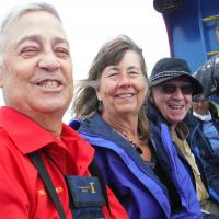 Bill, Joan and Ron on the Lake Huron Boat Ride