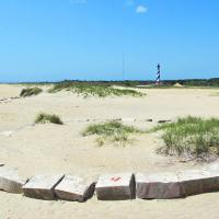 The Circle of Stones from the original lighthouse base were moved closer to the lighthouse just weeks after we visited.