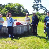 Leonard, Elizabeth, Pat, Bruce & Debbie at the Sapelo Island light.