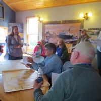 An informative presentation about Grand Marais and the lighthouse.