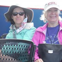 Judith and Kristina on Lake Huron Boat Ride