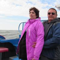 Kelly and Mike on Lake Huron Boat Ride