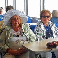 Irene and Sally enjoy passing the time between lights on a long cruise.