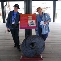 Peggy, Kathryn Under Hooper Strait Lighthouse