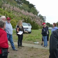 A docent from BLM provided background and plans for the future at Trinidad Head.