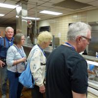 A real treat was going through the chow line at the Coast Guard Training Center mess hall.