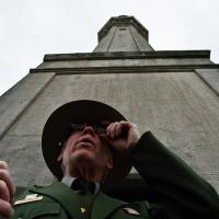 An interesting shot of Ranger Cantwell and the lighthouse tower.