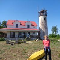 Diane at Charity Island Lighthouse
