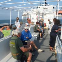 Another perfect weather day for the 2 hour trip off the Outer Banks islands.