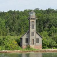 The Alger County Historical Society formed the East Channel Lighthouse Rescue Committee to try to save the building from neglect and erosion in 1999.  Lighthouse is now stable and maintains its now cherished rustic appearance.