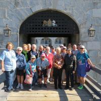 Another group photo at the Fort Henry entrance