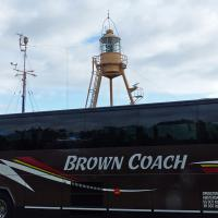 An interesting photo making our coach look like it has its own lantern room!