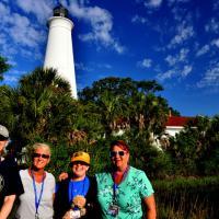 Carlene, Kathryn, Jill and Joan at St. Marks Lighthouse