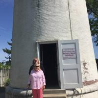 Winnie and daughter at Fenwick Island Lighthouse
