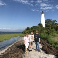 St. Marks Lighthouse with Marjie, Teri and Yvette