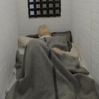 Sleeping quarters for the prisoners was only wide enough for a bed!