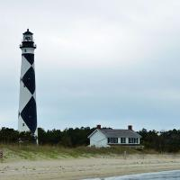 Approaching the island provided a nice opportunity to get a good photo of Cape Lookout Lighthouse.
