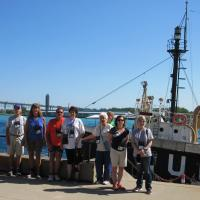 Huron Lightship with part of the group