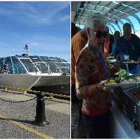 Kabobs on the cruise were enjoyed by all