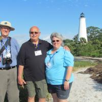 Fran, Tom and Chris at Marks Island Lighthouse