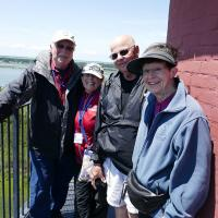 Dave, Kathryn, Bill and Peggy at the top of Assateague Lighthouse