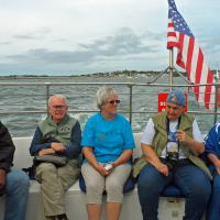 Although a little windy, our trip to lighthouses around Hyannis was on another beautiful day.  Here Al, Dick, Ora Mae, Joanne and Ann enjoy the sunshine.