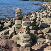 """Hundreds of 'Friendship Towers"""" line the shore."""