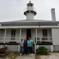 Jill, Kathryn and Joan at Cedar Key Lighthouse