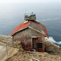 The Point Reyes fog signal building.
