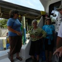 Maria addressing the group as we get ready to leave to see Cedar Key Lighthouse