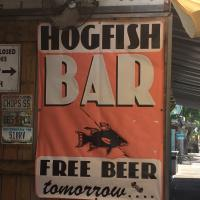 Beer Sign at Hogfish Bar