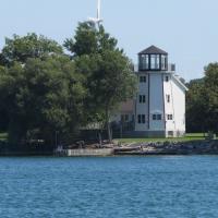 Faux light built on the Lake Ontario shoreline
