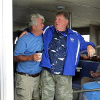 Randall & Joe enjoy a lighter moment on the Hyannis cruise.