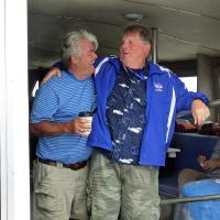 Randall & Joe enjoy a lighter moment on the Hyannis cruise.