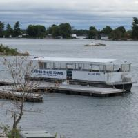 Despite a dreary, cool day everyone enjoyed our boat tour in the 1000 Islands