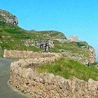 The road to the Great Orme Lighthouse