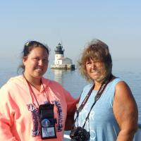 Debbie and Casey at Detroit River Lighthouse