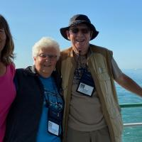 Carol, Janice and Ron on the Detroit River Cruise