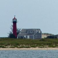 A 1978 blizzard cut Monomoy Island into two separate islands and the only reminder of Monomoy's original inhabited past is the cast iron lighthouse.