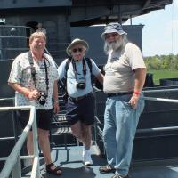 Rick, Bob and Dave B. went across the river to tour the USS North Carolina.