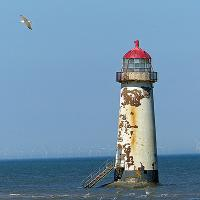 It was busy in Talacre (only one pubic potty working).  Walked the beach to view the Point of Ayr light.