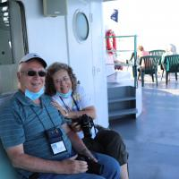 Dave and Pat on Detroit River Cruise