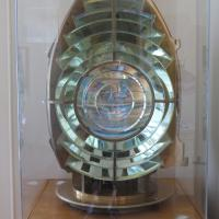 Original Fresnel lens is on display at the lighthouse.