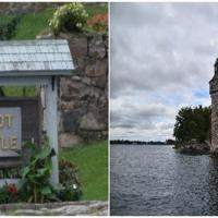 Boldt Castle built by George Boldt for his wife.  Unfortunately his wife didn't live to see its completion.