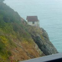 The fog signal building at Trinidad Head was in the fog!