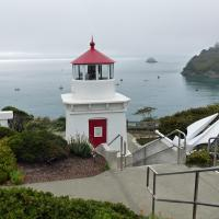The Trinidad Memorial Lighthouse was built in 1949 by the Trinidad Civic Club as a memorial to those lost or buried at sea.